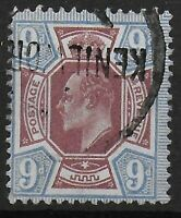 SG306.  9d.Reddish Purple & Light Blue. Lightly Used From Kenilworth. Ref:0517