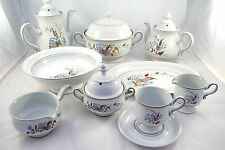 90 Pieces DENBY LORRAINE Dinner Set with Coffee & Tea Pots Made in England VGC