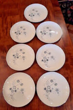 """7 Taylor Smith Taylor 6 1/4"""" Bread & Butter Plates Silver Mist *Mint*"""