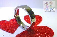 6MM FLAT PIPE CUT TUNGSTEN CARBIDE WEDDING RING MIRROR POLISHED BAND SIZE 12