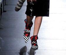 MIU MIU RESORT 2016 RUNWAY Black Red Naked Woman Print Socks Calze IT3 NWT