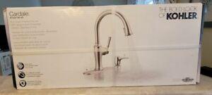 * KOHLER Cardale Pull-Down Kitchen Faucet Stainless +Soap Dispenser R72247-SD-VS