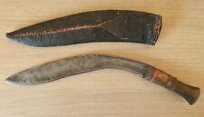 Antico coltello kukri orientale nepalese con fodera originale