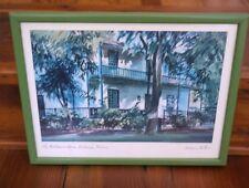 "Wayne La Com Signed ""The Baldwin Home, Lahaina Maui"" Hawaii Watercolor Print"