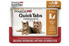 New Dog & Cat Md Quick Tabs for 2-25 Lbs. - (Nitenpyram)(capstar) Exp 08/22