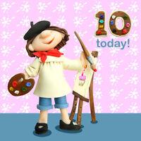 10 Today Girls 10th Birthday Card Ferdie & Friends Greeting Cards