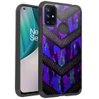 MetKase Hybrid Slim Phone Case Cover For OnePlus Nord N10 5G - PURPLE CAMO BADGE
