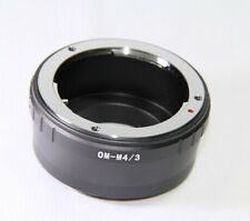 Olympus OM to Micro 4/3rds Lens Adapter Ring M 4/3 Mount Adaptor UK Seller