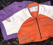 LOT 2 FOX Cycling Jerseys Purple, Orange Creamsicle, Size SMALL, Short sleeve