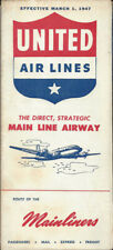 United Air Lines system timetable 3/1/47 [9082] Buy 4+ save 25%