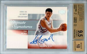 YAO MING 2003 04 UPPER DECK ULTIMATE COLLECTION SIGNATURES AUTO BGS 9.5 10 POP 3