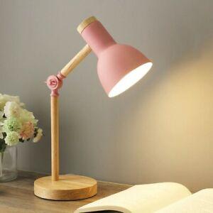 Wooden Art LED Table Lamp Desk Lamp Reader Study Bedside Decor Living Room Bedro