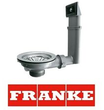 Genuine Franke Kitchen Single 1.0 Bowl Kitchen Sink Waste & Overflow Kit