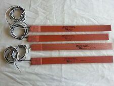 """Watlow Flexible Heating Strip 12"""" long by 1"""" wide 230 Volts 112 Watts (lot of 4)"""