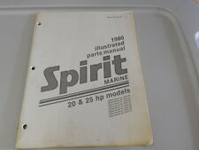 Spirit Outboard Factory Illustrated Parts Manual 1980 20hp 25hp Models