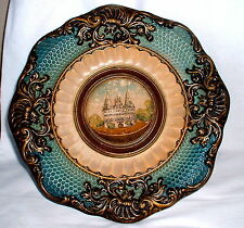 Wandteller Keramik Holstenthor Lübeck sign.AD Alfred Daehmel Hirschberg  um 1880