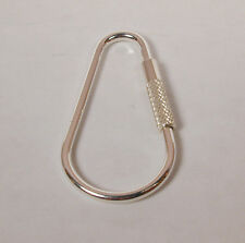 Sterling Silver Teardrop Key Ring Key Chain Made in the USA Free U.S. Shipping