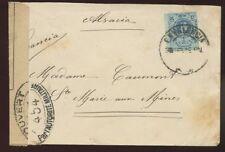 España 1917-19 Ww1 Carátula del censor a Alsacia