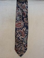 Used Mens Necktie- The American Collection- Blue With Paisley- Made in USA