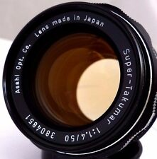 PENTAX ASAHI SUPER-TAKUMAR 50mm f/1.4 LENS M42 SCREW FIT,