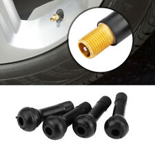 4pcs TR414 Rubber Copper Car Wheel Snap-in Tubeless Tyre Valve Dust Cap Black