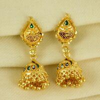 Indian Traditional Wedding Goldplated Earring Women Jhumka Jhumki Ethnic Jewelry