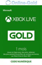 Xbox Live Gold 1 Mois Code Jeu à Télécharger