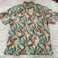 Tommy Bahama Mens Size Large Short Sleeve Button Down Hawaiian Print Shirt NWT
