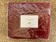 POTTERY BARN Washed Velvet Silk Diamond Quilted Sham NEW - RED King/Euro/Stand
