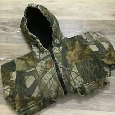 OUTFITTERS RIDGE Zip Up Real Tree Print Green Camo Hunting Jacket Boy's Size L