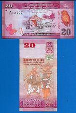 Sri Lanka P-123 20 Rupees Year 2010 Uncirculated Banknote
