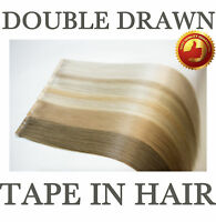 "7A 18"" Tape In 100% Remy Human Hair Extensions Real Thick Seamlees AU Stock DIY"