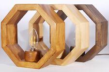 Handmade Reclaimed Wood Octagon Frame Table Lamp