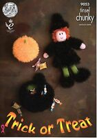 King Cole Tinsel Chunky  Knitting Pattern Tinsel Halloween - 9053