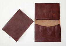 GERMAN ARMY WWII WW2 REPRO BROWN LEATHER DOCUMENT SOLDBUCH WALLET POUCH marked
