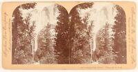 USA Cadute Da Yosemite Foto Stereo PL55L6n Vintage Albumina