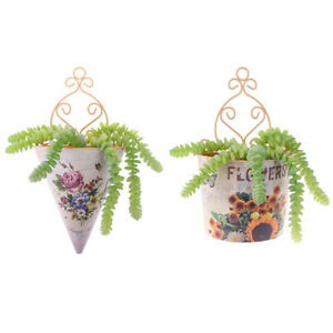 1Pc Plastic Wall Hanging Flower Vase Pot Wall Flower Basket Rural Flower BaS.JN