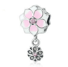 NEW European Silver plated Charm Bead Fit sterling 925 Necklace Bracelet #A163
