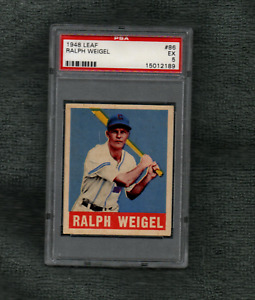 1948 LEAF BASEBALL #86 RALPH WEIGEL PSA 5 EX CATCHER CHICAGO WHITE SOX