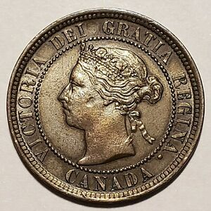 Rare 1891 Large Date Canada Large Cent KM# 7 Extremely Fine No Reserve!