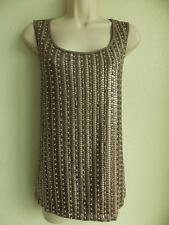 by CHICOS * SEQUIN * BEADED * SCOOP NECK * TANK TOP BLOUSE size 2