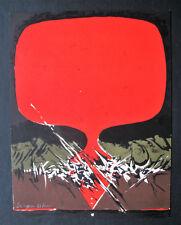 JAROSLAW SERPAN , 1922 PRAG  - 1976 PARIS . SERIGRAPHIE , signiert . INFORMEL