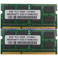 DDR3 16GB 2x 8GB 1333MHZ PC3-10600 2Rx8 kit 204PIN SODIMM Laptop Notebook Memory