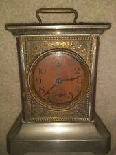 "Antique ""MAUTHE"" carriage clock, music box alarm. runs great!"