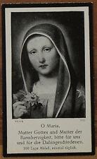 Sterbebild Deathcard Frieda Fischer †1953 im Alter von 20 Jahren geb. Zepf Maria