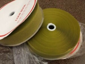 JOB LOT GREEN TAPE TOUCH AND CLOSE HOOK AND LOOP SEW ON - OVER 15M