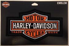 9486 HARLEY DAVIDSON LONG BAR & SHIELD MEDIUM SEW ON CLOTH PATCH MOTORCYCLE