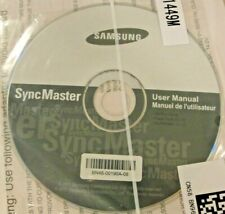 """Samsung SyncMaster User Manual, CD, Factory """"SEALED"""" BN96-21449M, BN46-00190A-08"""