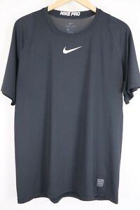 Nike Men's Pro Fitted Short Sleeve Black T-Shirt Top 838093 sz XL