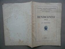 Consorzio Agrario Ferrara Rendiconto 1933 Copparo Vigarano Mainarda S.Agostino